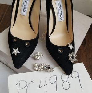 71858a26d3c Jimmy Choo Shoes - NWT Jimmy Choo JASMINE 100 suede crystal heels 38